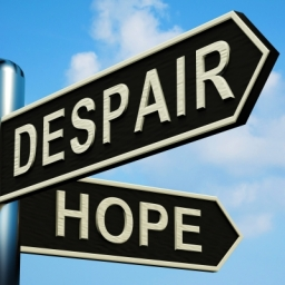 Despair Or Hope Directions  courtesy of Stuart Miles / FreeDigitalPhotos.net