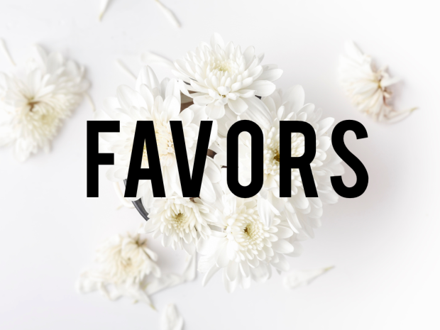 Posts about Favors